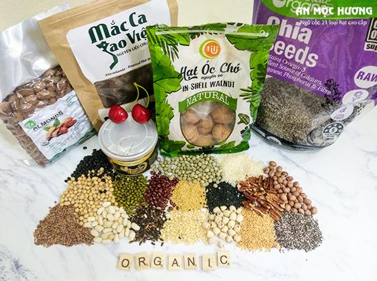 bột ngũ cốc cho bé được làm từ 21 loại hạt dinh dưỡng cao cấp