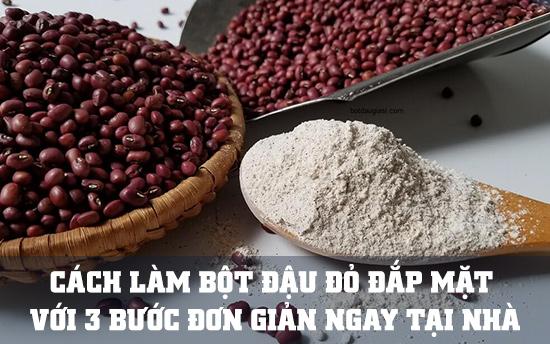 cách làm bột đậu đỏ