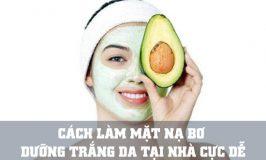 mặt nạ bơ dưỡng trắng da hiệu quả